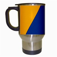 International Sign Of Civil Defense Roundel Travel Mugs (White)