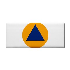 International Sign Of Civil Defense Roundel Hand Towel