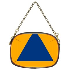 International Sign Of Civil Defense Roundel Chain Purses (two Sides)
