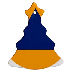 International Sign Of Civil Defense Roundel Christmas Tree Ornament (2 Sides)