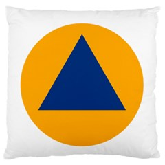 International Sign Of Civil Defense Roundel Large Flano Cushion Case (Two Sides)