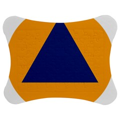 International Sign Of Civil Defense Roundel Jigsaw Puzzle Photo Stand (Bow)