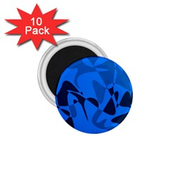 Blue pattern 1.75  Magnets (10 pack)