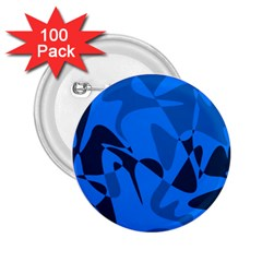 Blue pattern 2.25  Buttons (100 pack)