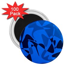 Blue pattern 2.25  Magnets (100 pack)