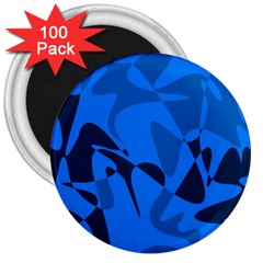 Blue pattern 3  Magnets (100 pack)