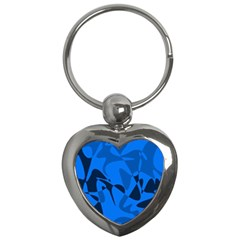 Blue pattern Key Chains (Heart)