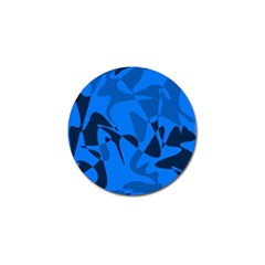 Blue pattern Golf Ball Marker (4 pack)