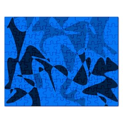Blue pattern Rectangular Jigsaw Puzzl