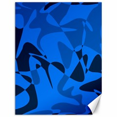 Blue pattern Canvas 12  x 16