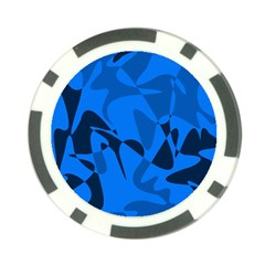 Blue pattern Poker Chip Card Guards