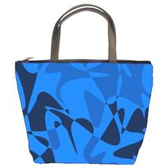 Blue pattern Bucket Bags
