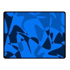 Blue pattern Fleece Blanket (Small)