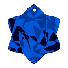 Blue pattern Snowflake Ornament (2-Side)