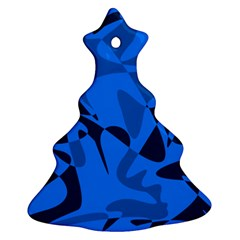 Blue pattern Christmas Tree Ornament (2 Sides)
