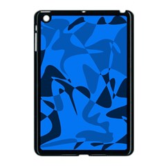 Blue pattern Apple iPad Mini Case (Black)