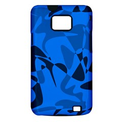 Blue pattern Samsung Galaxy S II i9100 Hardshell Case (PC+Silicone)
