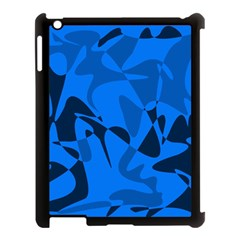 Blue pattern Apple iPad 3/4 Case (Black)
