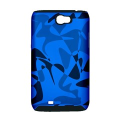 Blue pattern Samsung Galaxy Note 2 Hardshell Case (PC+Silicone)