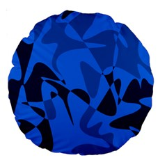Blue pattern Large 18  Premium Round Cushions