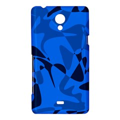 Blue pattern Sony Xperia T