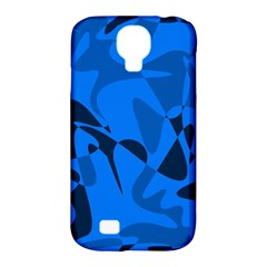 Blue pattern Samsung Galaxy S4 Classic Hardshell Case (PC+Silicone)