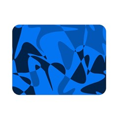 Blue pattern Double Sided Flano Blanket (Mini)