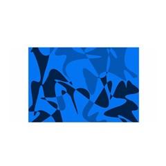 Blue pattern Satin Wrap