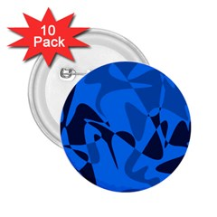 Blue pattern 2.25  Buttons (10 pack)