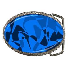 Blue pattern Belt Buckles