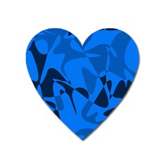 Blue pattern Heart Magnet