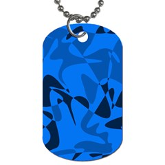 Blue pattern Dog Tag (Two Sides)