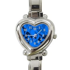 Blue pattern Heart Italian Charm Watch