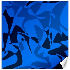 Blue pattern Canvas 16  x 16