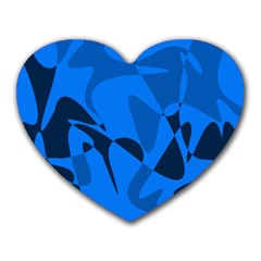 Blue pattern Heart Mousepads