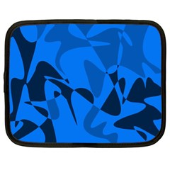 Blue pattern Netbook Case (XL)