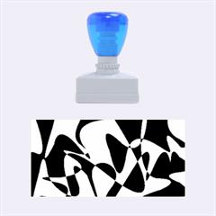 Blue pattern Rubber Stamps (Medium)