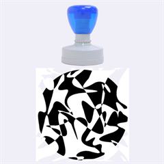 Blue pattern Rubber Round Stamps (Large)