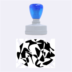 Blue pattern Rubber Oval Stamps