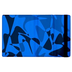 Blue pattern Apple iPad 3/4 Flip Case