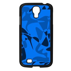 Blue pattern Samsung Galaxy S4 I9500/ I9505 Case (Black)