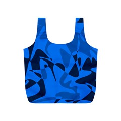 Blue pattern Full Print Recycle Bags (S)
