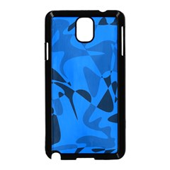 Blue pattern Samsung Galaxy Note 3 Neo Hardshell Case (Black)