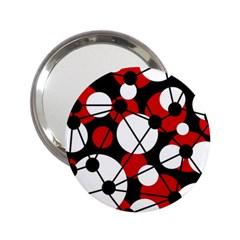 Red, black and white pattern 2.25  Handbag Mirrors