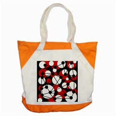 Red, black and white pattern Accent Tote Bag