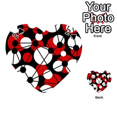 Red, black and white pattern Playing Cards 54 (Heart)
