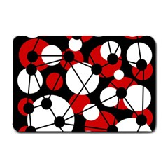 Red, black and white pattern Small Doormat