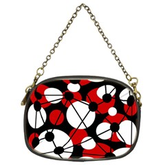Red, black and white pattern Chain Purses (Two Sides)