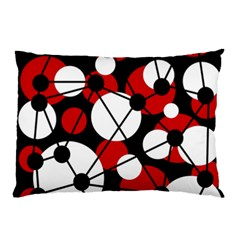 Red, black and white pattern Pillow Case