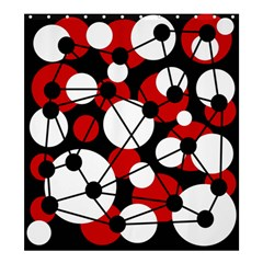 Red, black and white pattern Shower Curtain 66  x 72  (Large)